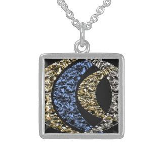 Lunation Square Pendant Necklace