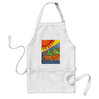 Lunch at the Pier Adult Apron