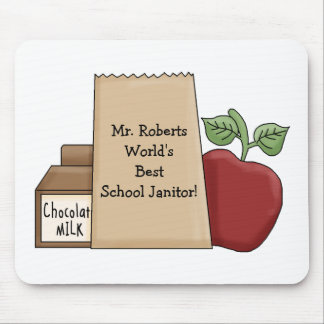 Lunch bag/Apple-World's Best Janitor's Name Mouse Pad