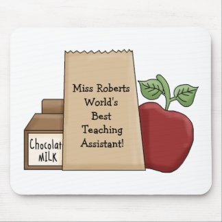 Lunch bag/Apple-World's Best Teaching Assistant! Mouse Pad