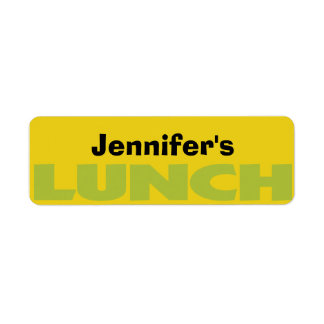 Lunch Bag ID personalized sticker Label