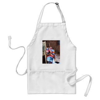 Lunch Basket in One Room Schoolhouse Adult Apron