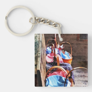 Lunch Basket in One Room Schoolhouse Acrylic Keychains