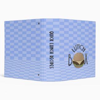 lunch box binder