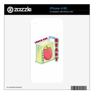 Lunch Box Ready Decal For iPhone 4