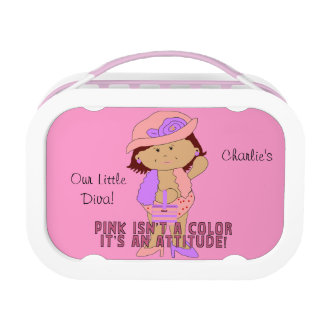 Lunch Case Pink Girl Diva Lunch Box