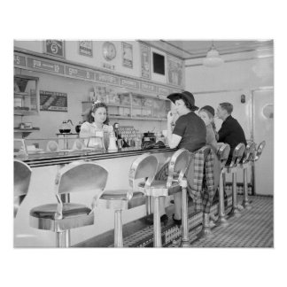 Lunch Counter, 1941 Poster