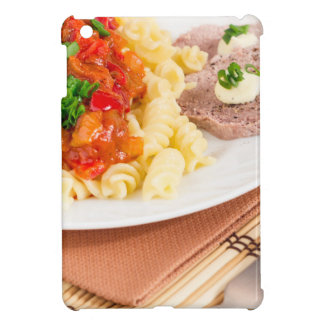 Lunch dish of Italian pasta, vegetable sauce iPad Mini Covers