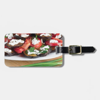Lunch for a vegetarian luggage tag