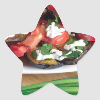 Lunch for a vegetarian star sticker