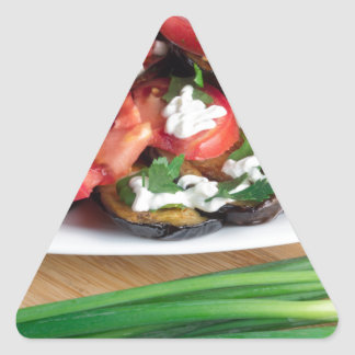 Lunch for a vegetarian triangle sticker