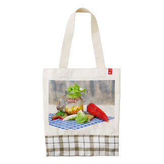 Lunch in a glass zazzle HEART tote bag