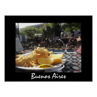 Lunch in the Plaza - Buenos Aires Poster