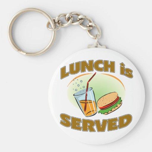 Lunch Is Served Basic Round Button Keychain