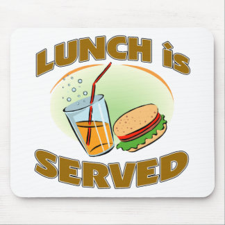 Lunch Is Served Mouse Pad