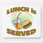 Lunch Is Served Mouse Pads
