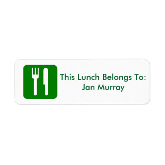 Lunch Label (For Work or School)