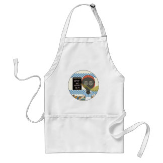 Lunch Lady - Gas Mask Beans and Franks Day Adult Apron
