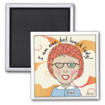 Lunch Lady - I'm One Hot Lunch Lady 2 Inch Square Magnet