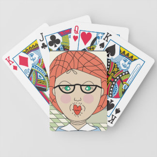 Lunch Lady - I'm One Hot Lunch Lady Bicycle Playing Cards