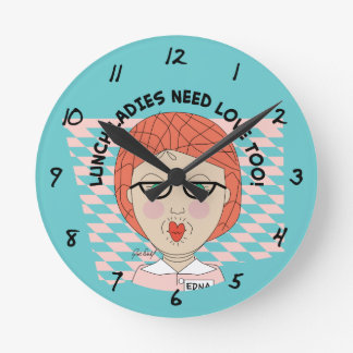 Lunch Lady-LUNCH LADIES NEED LOVE TOO! Round Clock