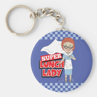 Lunch Lady - Super Lunch Lady Basic Round Button Keychain