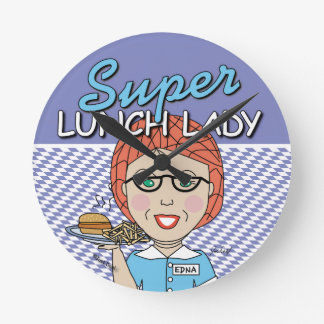 Lunch Lady - Super Lunch Lady Round Clock