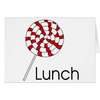 Lunch Lollipop Greeting Card