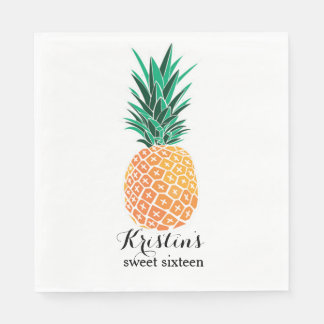 Lunch Napkins for Luau Party Personalized