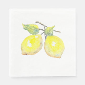 Lunch Napkins with Lemon Design