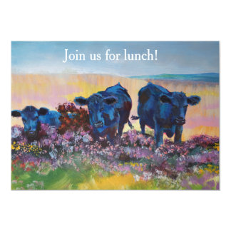 Lunch on Dartmoor - Landscape painting Card