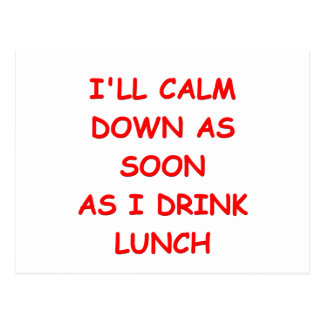 lunch postcard