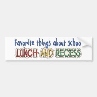 Lunch & Recess Bumper Sticker
