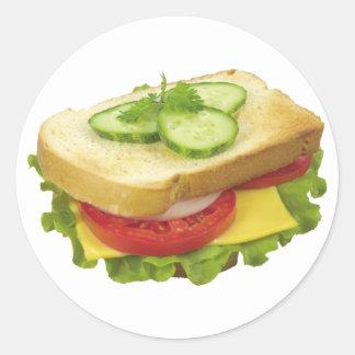Lunch Sandwich Classic Round Sticker