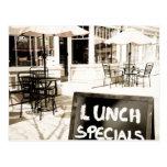 Lunch Specials Cards Sidewalk Cafe Postcard