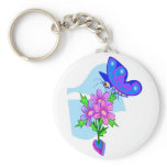 colorful, fun, keychain, butterfly, plant,