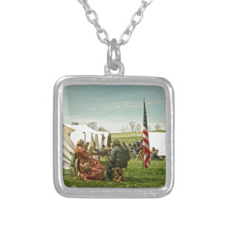 Lunch Time Silver Plated Necklace