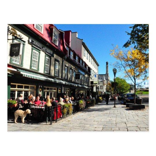 Lunch Vieux Quebec City Street Canada Postcard