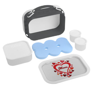 Lunchbox for Mom in red heart design
