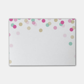 LUNCHBOX LOVE NOTE trendy cute confetti pink mint Post-it® Notes