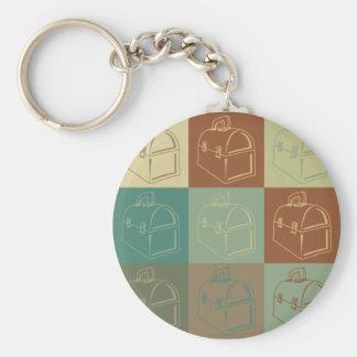 Lunchbox Pop Art Basic Round Button Keychain