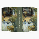 Luncheon by Claude Monet, Vintage Impressionism 3 Ring Binder
