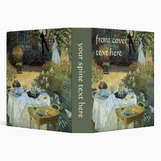 Luncheon by Claude Monet Vintage Impressionism 3 Ring Binders