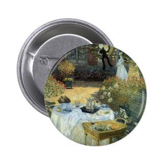 Luncheon by Claude Monet, Vintage Impressionism Button
