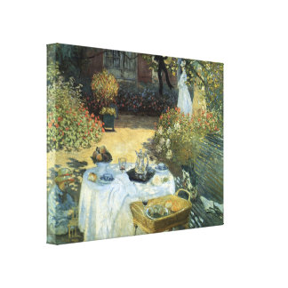 Luncheon by Claude Monet, Vintage Impressionism Gallery Wrapped Canvas