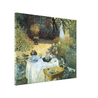 Luncheon by Claude Monet, Vintage Impressionism Canvas Print