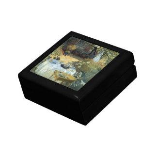 Luncheon by Claude Monet, Vintage Impressionism Keepsake Boxes