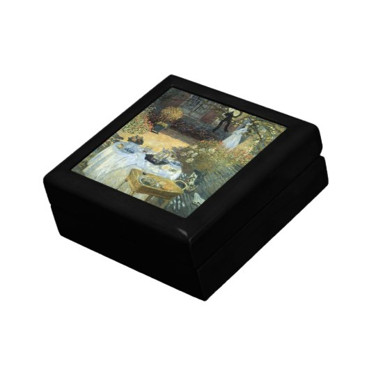 Luncheon by Claude Monet, Vintage Impressionism Jewelry Box