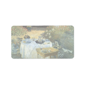 Luncheon by Claude Monet Vintage Impressionism Address Label