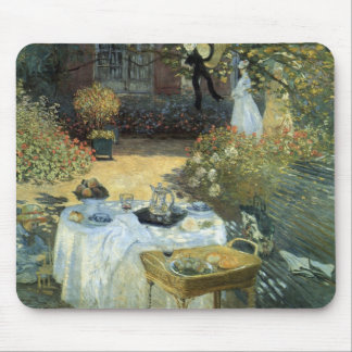 Luncheon by Claude Monet, Vintage Impressionism Mouse Pad